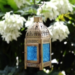 Antikcart Moroccan Style Beautiful Glass Artwork Small Hanging Lantern MAIN