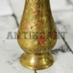 Antikcart Brass Golden Koftagiri Artwork Flower Vase close view PIC