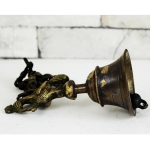 Antikcart Vintage Temple Bell with Peacock made of Brass CLOSE VIEW