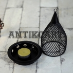 Antikcart Handcrafted Metal Hanging Tea Light Candle Holder OPEN view