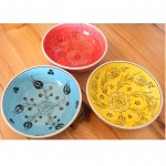 Antikcart Handmade 'Mediterranean' Ceramic Bowls - 20cm main