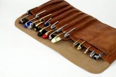leather fountain pen case