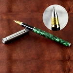 vintage-wing-sung-fountain-pen-green-marbled-dualtone-triumph-F-nib