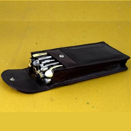leather pen pouch case