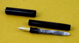 vintage-CRAIG-sheaffer-lever-filler-fountain-pen-kanwrite-dual-tone-Super-Flex-F-nib
