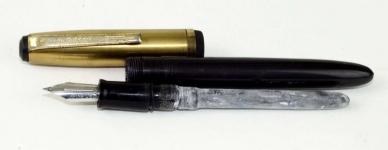 vintage-wearever-lever-fill-pacemaker-fountain-pen-steel-Fine-nib