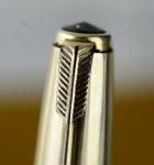 vintage-parker-51-aerometric-filler-fountain-pen-14CT-solid-gold-nib-12K-rolled-barrel