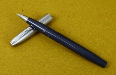 vintage-sheaffer-imperial-touchdown-II-grey-barrel-fountain-pen-triumph-Fine-nib