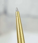 vintage-parker-75-insignia-gold-filled-barrel-fountain-pen-ballpoint-pen-set-with-14K-solid-gold-broad-nib
