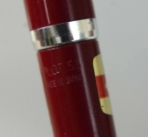 Pilot-super-55-aero-filler-fountain-pen-burgundy-barrel-medium-steel-nib-Japan