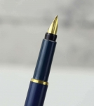 vintage-parker-rialto-cartridge-Fountain-pen-23K-gold-plated-hooded-Medium-nib