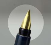 Vintage-parker-rialto-cartridge-fountain-pen-23K-gold-plated-hooded-M-nib