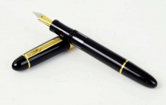 Senator-president-piston-filler-fountain-pen-dultone-23K-plated-Medium-nib-German-made