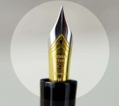 Senator-president-piston-filler-fountain-pen-dultone-23K-plated-M-nib-German-made