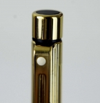 Vintage-Sheaffer-Targa-1005-Gold-Plated-fountain-14KT-solid-gold-Broad-nib