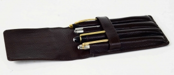 genuine-Leather-pen-case-for-4-pens-individual-pockets