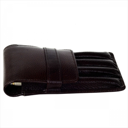 Pure leather pen pouch