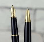 Vintage-Montblanc-Meisterstuck-144-converter-Fountain-Pen-14KT-Solid-Gold-B-Nib