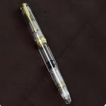 wingsung-Piston-filler-618-fountain-pen-demonstrator-Gold-plated-F-nib