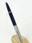 vintage-Parker-21-aerometric-fountain-pen-Broad-nib-blue-barrel