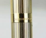 Vintage-Sheaffer-targa-fountain-pen-1005-Gold-plated-barrel-14Kt-Solid-gold-B-nib