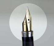 vintage-parker-75-diamante-gold-filled-barrel-18K-750-Fine-solid-gold-nib