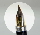 vintage-parker-75-gold-grain-dORGE-plated-barrel-14K-solid-gold-M-nib-France