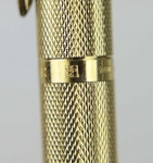 vintage-parker-75-gold-grain-dORGE-Plated-Barrel-14KT-solid-gold-M-nib-France