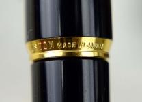 Vintage-Pilot-Custom-K-500-RS-Black-Barrel-Gold-trim-14K-Solid-gold-Fine-nib