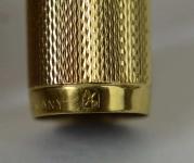 vintage-Dunhill-Montblanc-23K-barrel-14K-585-solid-gold-Broad-nib-Alfred-Dunhill