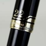 vintage-Platinum-pocket-22-fountain-pen-with-22C-solid-gold-Fine-nib-golden-trim