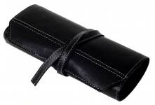Pure-leather-pen-pencil-rollup-12-pen-storage-genuine-soft-leather