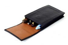 Pure-leather-Jumbo-pen-storage-pouch-pen-case-with-separators