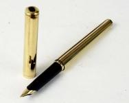 vintage-parker-95-flighter-Gold-filled-fountain-pen-23K-gold-plated-Medium-nib