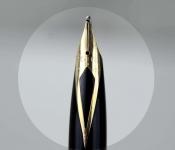 vintage-sheaffer-targa-1013-gold-plated-barrel-14K-solid-gold-Broad-nib