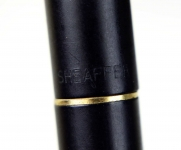 vintage-sheaffer-targa-1003-GP-matte-black-barrel-fountain-pen-14K-solid-gold-F-nib
