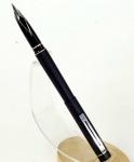 vintage-sheaffer-targa-black-barrel-fountain-pen-inlaid-steel-Broad-nib