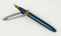 Vintage-wingsung-233-aerometric-filler-fountain-pen-F-gold-plated-nib-NOS