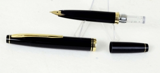 vintage-sailor-pocket-fountain-pen-with-14K-solid-gold-Fine-Nib-Japan