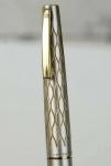 vintage-sheaffer-lady-642-fountain-pen-satin-tulle-silver-barrel-14Karat-gold-M-nib-USA