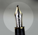 vintage-montblanc-meisterstuck-144-fountain-pen-14K-solid-gold-dualtone-Broad-nib