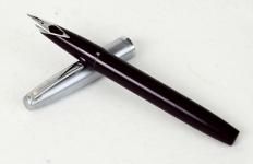vintage-sheaffer-imperial-440-burgundy-barrel-fountain-pen-inlaid-Fine-nib