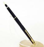 vintage-parker-arrow-classic-fountain-pen-matte-black-barrel-triangular-golden-Broad-nib