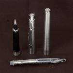 vintage-original-parker-classic-flighter-fountain-pen-steel-180-Medium-nib-UK