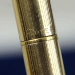 vintage-parker-45-insignia-12k-gold-filled-barrel-fountain-pen-14K-gold-F-nib-arrow