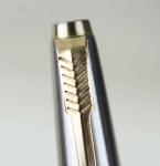 vintage-orginal-parker-45-flighter-steel-fountain-pen-14K-solid-gold-Medium-nib