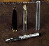 vintage-orginal-parker-45-flighter-steel-fountain-pen-with-14K-solid-gold-M-nib-England