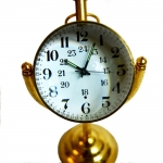 Antikcart Mechanical Winding Table Clock With Brass Base dial