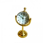 Antikcart Mechanical Winding Table Clock With Brass Base